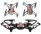 Skin Decal Wrap 2 Pack for DJI Ryze Tello Drone Independent Woman Pin Up Girl DRONE NOT INCLUDED