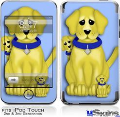 iPod Touch 2G & 3G Skin - Puppy Dogs on Blue