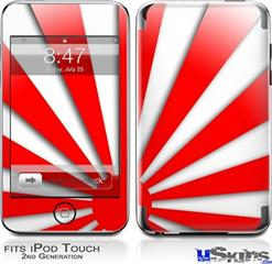 iPod Touch 2G & 3G Skin - Rising Sun Japanese Red