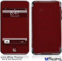 iPod Touch 2G & 3G Skin - Carbon Fiber Red