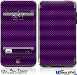iPod Touch 2G & 3G Skin - Carbon Fiber Purple