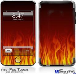 iPod Touch 2G & 3G Skin - Fire Flames on Black
