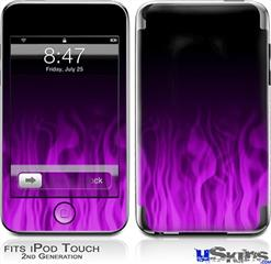 iPod Touch 2G & 3G Skin - Fire Flames Purple