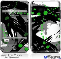 iPod Touch 2G & 3G Skin - Abstract 02 Green