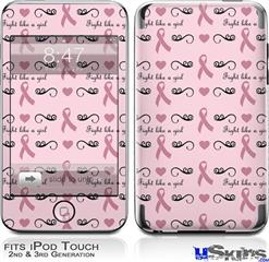 iPod Touch 2G & 3G Skin - Fight Like A Girl Breast Cancer Ribbons and Hearts