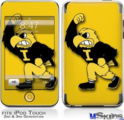 iPod Touch 2G & 3G Skin - Iowa Hawkeyes Herky on Gold