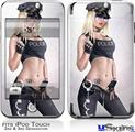 iPod Touch 2G & 3G Skin - Cop Girl Pin Up Girl