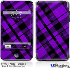 iPod Touch 2G & 3G Skin - Purple Plaid