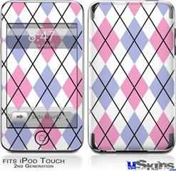 iPod Touch 2G & 3G Skin - Argyle Pink and Blue