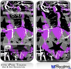 iPod Touch 2G & 3G Skin - SceneKid Purple