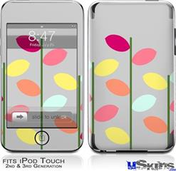 iPod Touch 2G & 3G Skin - Plain Leaves On Gray