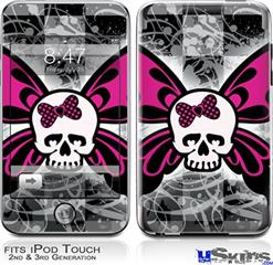 iPod Touch 2G & 3G Skin - Skull Butterfly