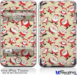 iPod Touch 2G & 3G Skin - Lots of Santas