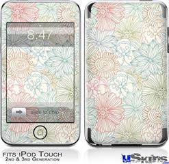 iPod Touch 2G & 3G Skin - Flowers Pattern 02