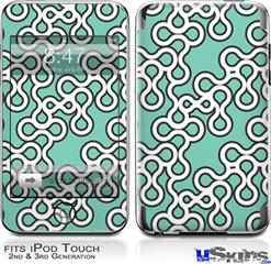 iPod Touch 2G & 3G Skin - Locknodes 03 Seafoam Green