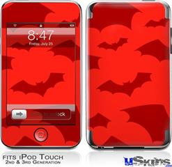 iPod Touch 2G & 3G Skin - Deathrock Bats Red