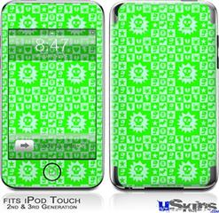 iPod Touch 2G & 3G Skin - Gothic Punk Pattern Green
