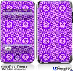 iPod Touch 2G & 3G Skin - Gothic Punk Pattern Purple