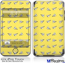 iPod Touch 2G & 3G Skin - Paper Planes Yellow