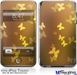 iPod Touch 2G & 3G Skin - Bokeh Butterflies Yellow