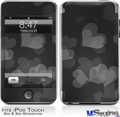 iPod Touch 2G & 3G Skin - Bokeh Hearts Grey