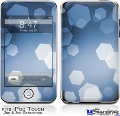 iPod Touch 2G & 3G Skin - Bokeh Hex Blue