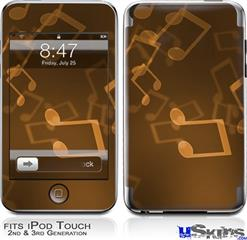 iPod Touch 2G & 3G Skin - Bokeh Music Orange