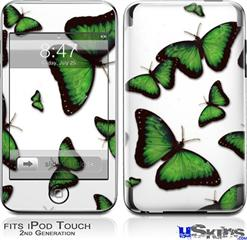 iPod Touch 2G & 3G Skin - Butterflies Green