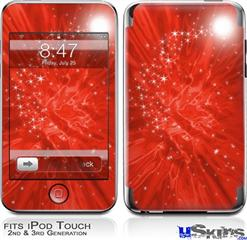 iPod Touch 2G & 3G Skin - Stardust Red