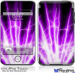 iPod Touch 2G & 3G Skin - Lightning Purple