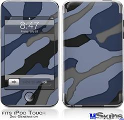 iPod Touch 2G & 3G Skin - Camouflage Blue