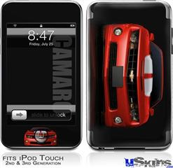 iPod Touch 2G & 3G Skin - 2010 Chevy Camaro Victory Red - White Stripes