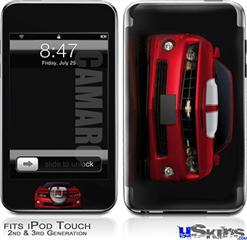 iPod Touch 2G & 3G Skin - 2010 Chevy Camaro Jeweled Red - White Stripes