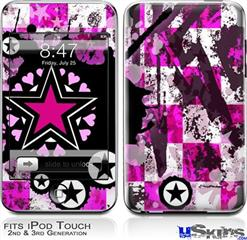 iPod Touch 2G & 3G Skin - Pink Star Splatter