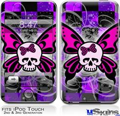 iPod Touch 2G & 3G Skin - Butterfly Skull