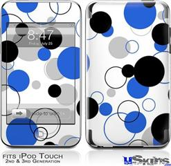 iPod Touch 2G & 3G Skin - Lots of Dots Blue on White