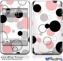 iPod Touch 2G & 3G Skin - Lots of Dots Pink on White