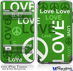 iPod Touch 2G & 3G Skin - Love and Peace Green