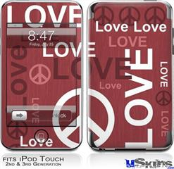 iPod Touch 2G & 3G Skin - Love and Peace Pink